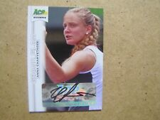 Anna Chakvetadze Ace Grand Slam Autograph Card # 1.  Womens Tennis Player