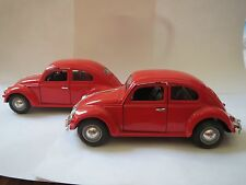 Sunnyside Love Bug Diecast 1:24 Scale WOB VW55 SS770 RED-W/O FRONT BUMPER (1)