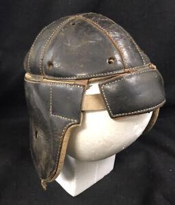 Vintage Goldsmith Leather Football Helmet Model 60  Dog Ear  1920s