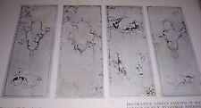 1911 DECORATIVE PANELS PAINTED IN WATER COLOR ON SILK by George Sheringham Print