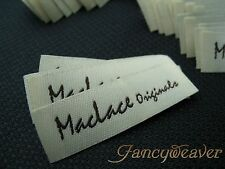 1200 Custom Garment Woven Labels ( Damask ) for Tee/ Clothing/ Sewing/ Fabric