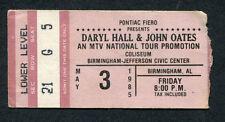 Original 1984 Hall & Oates Concert Ticket Stub Birmingham AL Big Bam Boom
