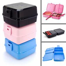 Brotdose Kinder Lunchbox Brotbox Butterbrotdose Frühstücksbox Besteck Trennwände