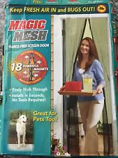 Magic Mesh Hands-Free Screen Door 30% Stronger Magnets All Season Bug protection