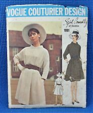 Vintage VOGUE COUTURIER Sybil Connolly of Dublin Sewing Pattern No.1991 Size 12