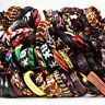20pcs Wholesale lot Mix Styles Leather Bracelets punk Cuff Men's Women's Jewelry