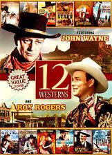 12 Westerns Featuring John Wayne and Roy Rogers (DVD, 2014, 2-Disc Set)