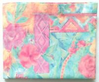Vtg. THOMASTON Bedsheet FULL FLAT Bright Multi Colour Floral Abstract No Iron