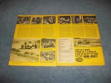 1969 Hickey Mini-Boot Off-Road Buggy Vintage Info Article