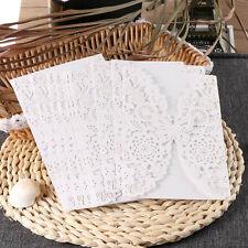 10Pcs Wedding Card Invitation Party Invitation Cards Envelope Carved Model