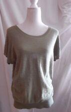 Ann Taylor Loft womens blouse shirt top size large L shirt green cotton