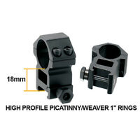 "Leapers Inc. Rgwm-25H4 1"" 2 Pieces High Profile Picatinny/Weaver"