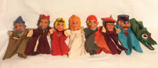 Punch & Judy Hand Puppets x 8 Vintage