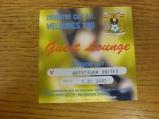 01/01/2002 billet: COVENTRY CITY V Rotherham United [Guest Lounge] (petite déchirure).