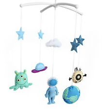 [Outer Space] Unisex Baby Crib Bell, Cute Musical Mobile, Colorful