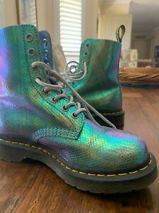 dr. martens boots iridescent
