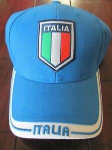 "Italia Calcio Italy Soccer Cap Hat Rhinox ""Gil Azzurri"" UEFA EURO 2020 Champions"