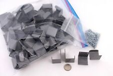 97 NEW GRAY PAINTED METAL HOOKS / HANGER BRACKETS with SCREWS