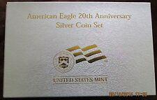 2006W U. S. 20th Anniversary 3 Piece Set Proof Silver American Eagle Dollars