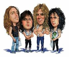 Metallica Band Master Of Puppets Caricature Sticker or Magnet