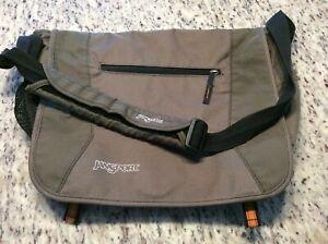 JanSport Messengers Bag Backpack Olive Green Orange Shoulder Bag Work School