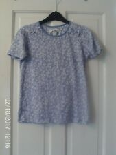 BLUE AND WHITE T SHIRT, AGED 12