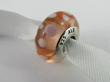 "GENUINE AUTHENTIC PANDORA ""PINK BUBBLES"" MURANO GLASS CHARM BEADS  (RET) 790694"