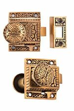 eastlake bronze Oriental Screen Storm Doorknob Set