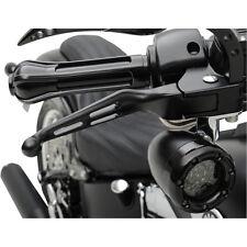 Kit Poignée perforé Pour Harley-Davidson Fendue Manche Levier Kit Noir