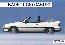 Opel Kadett GSi Cabrio Prospekt 9 85 brochure 1985 Auto PKWs Deutschland Verkehr