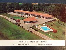 Catersville GA Skylit Motel Free RCA Victor TVs & Putting Green Postcard 1950s