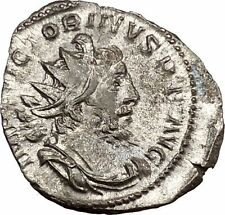 Victorinus  269AD Very rare Silvered Ancient Roman Coin Sol Sun God Cult i39012
