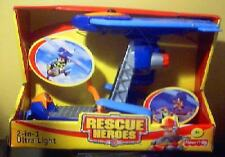RESCUE HEROES~2-IN-1 ULTRA LIGHT~VEHICLE~NIB