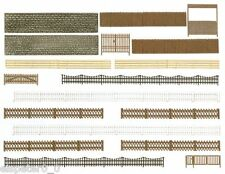 Busch 6017, Fence, Wall, Gate, H0 Model World Model Building Kit 1:87