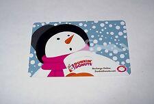 DUNKIN DONUTS SNOWMAN GIFT CARDS