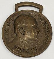 VTG 1926 Pope Pius XI Eucharistic Congress Chicago Watch Fob Medal Catholic
