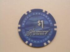 "Royal Caribbean Cruise Line RCI $1.00 Casino Chip Token ""HARMONY  OF THE SEAS"""