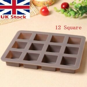 Mould Sweet Hearts Silicone Chocolate Mold Baking cake bakeware12 square