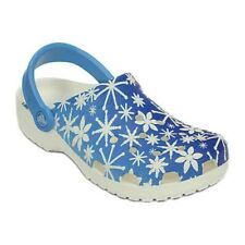 Unisex Crocs Classic Snowflake Clog Bluebell Roomy Fit 203603-4BN SZ M 4 W 6
