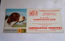 Vintage Campbellsville Industries KY College Faithful Advertising Ink Blotter
