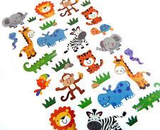 Wild Giungla, Safari Animali adesivi per bambini Carta rendendo le etichette per i bambini ls40