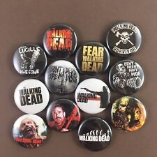 "Walking Dead 1"" Button Pin Set Zombie Horror Thriller AMC"