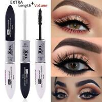 2IN1 Silk Fiber Double Head Mascara Slim Waterproof with Black and White BF8X0