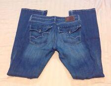 Women's Big Star Hazel Mid Rise Boot Denim Blue Jeans Size 31 L (J-238)