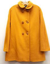 ZARA BASIC Size L Mustard Yellow 2 Pocket Wool Cashmere Lined Coat Jacket