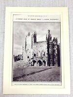 1914 Aufdruck Original WW1 Hotel De Ville Arras Frankreich Ruinen Neu Bomben War
