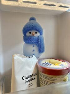 Freezer Friend! SNOWMAN STICKER Christmas Tradition! Frozen/Frosty Friend CUTE!!