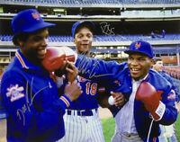 Mike Tyson+Doc Gooden+Darryl Strawberry Signed New York Mets 16x20 Photo JSA ITP