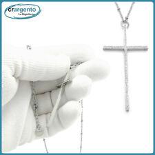 rosario collana catena con croce da uomo in acciaio inox catenina a cricifisso e