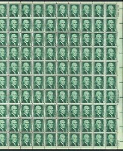 Thomas Jefferson Sheet of 100 - 1 Cent Postage Stamps Scott 1278
